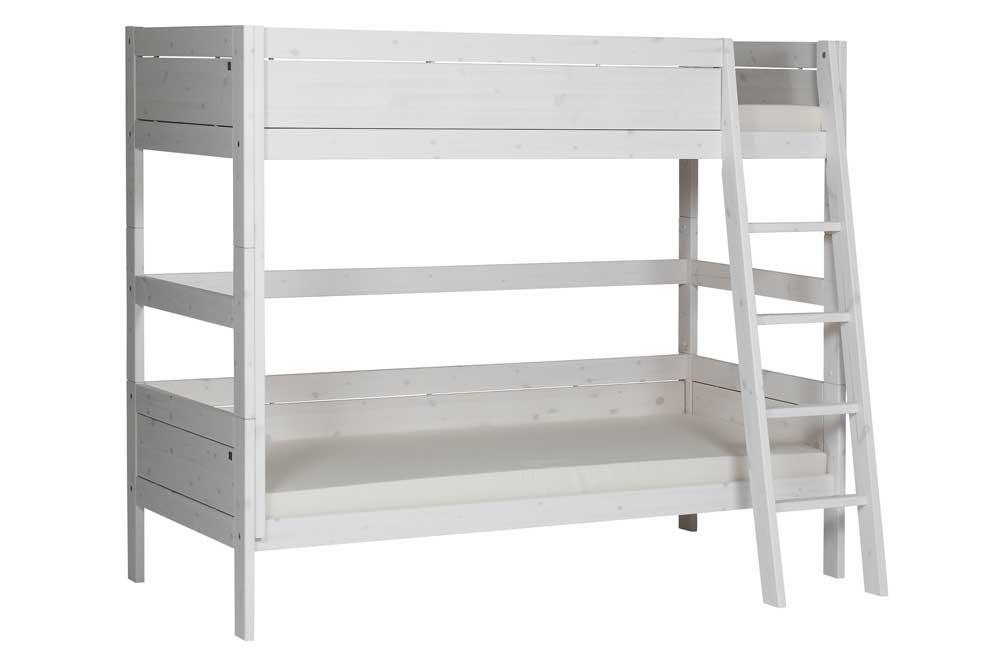 Etagenbett Ecklösung : Lifetime eck etagenbett mit gerader leiter in weiß romy