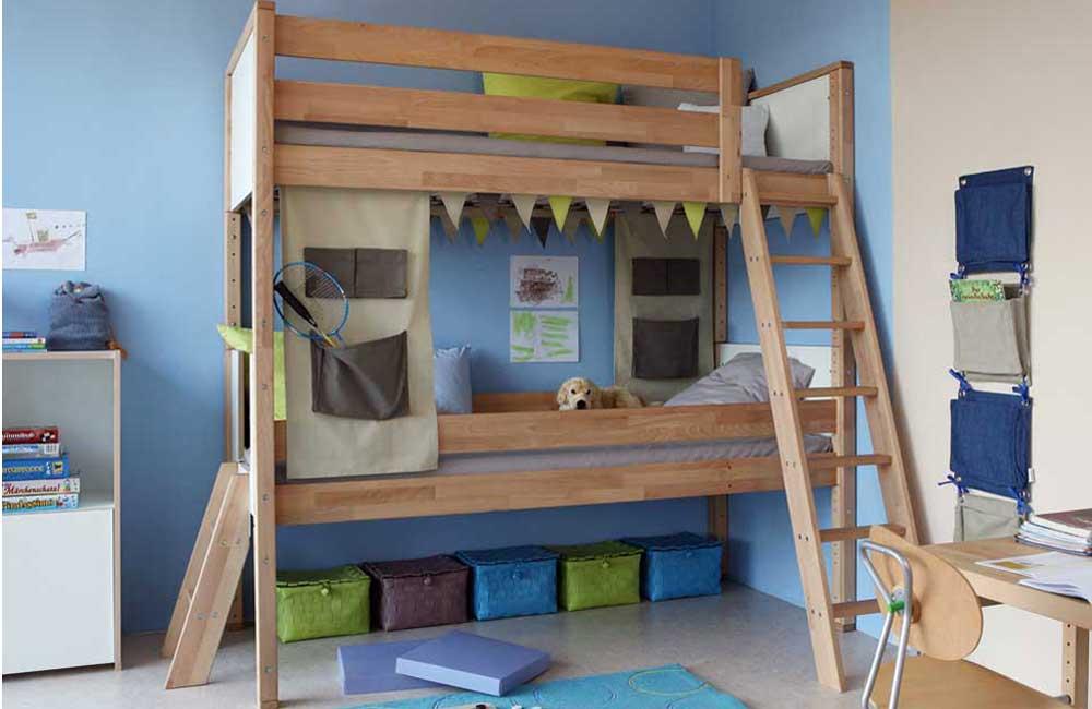Etagenbett Holz Günstig : Etagenbett groß delite