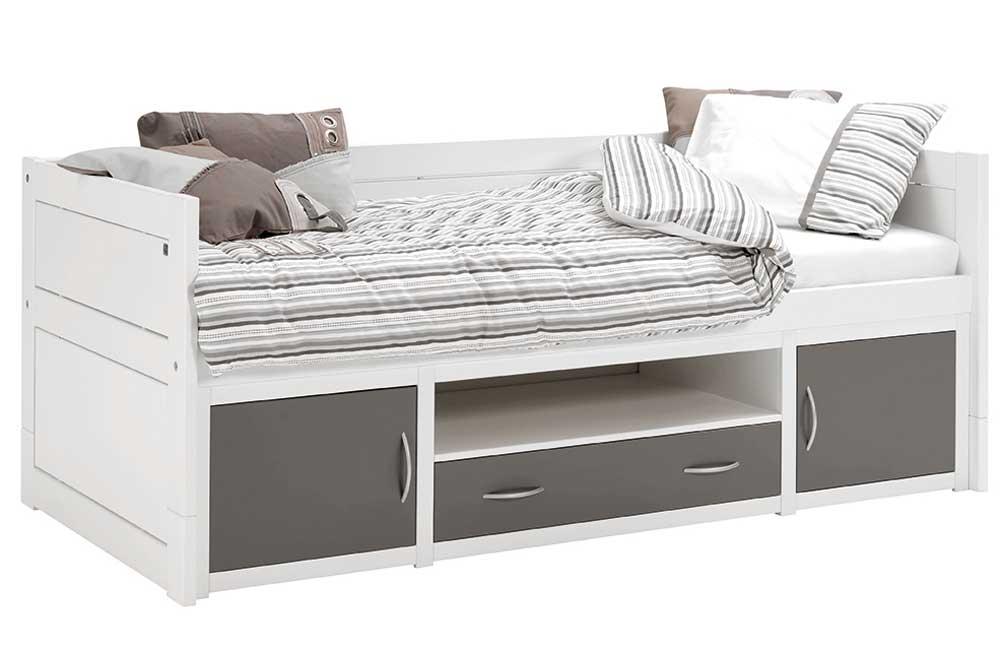 lifetime kojenbett in wei und anthrazit. Black Bedroom Furniture Sets. Home Design Ideas