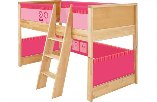 haba hochbett matti rosa pink. Black Bedroom Furniture Sets. Home Design Ideas