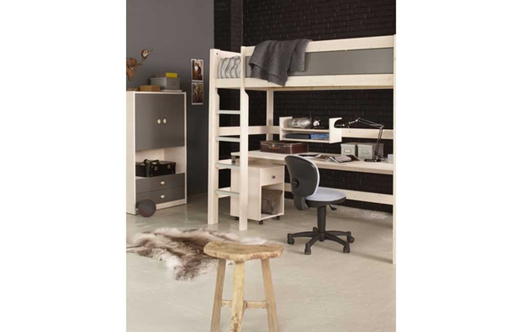 lifetime hochbett mit integriertem schreibtisch. Black Bedroom Furniture Sets. Home Design Ideas