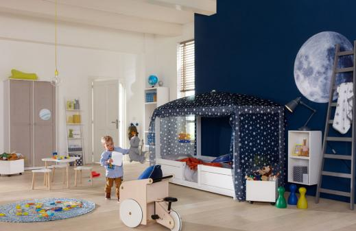 Lifetime 4 in 1 Kinderbett mit Blue Star Himmel